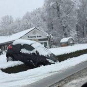 Überrascht vom Schnee im März in Wuppertal