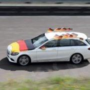 Verkehrssicherheit von Fanartikel für das Auto.